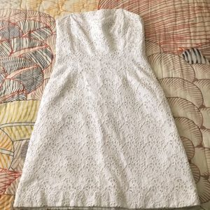 Lilly Pulitzer white cotton eyelet lace dress 8